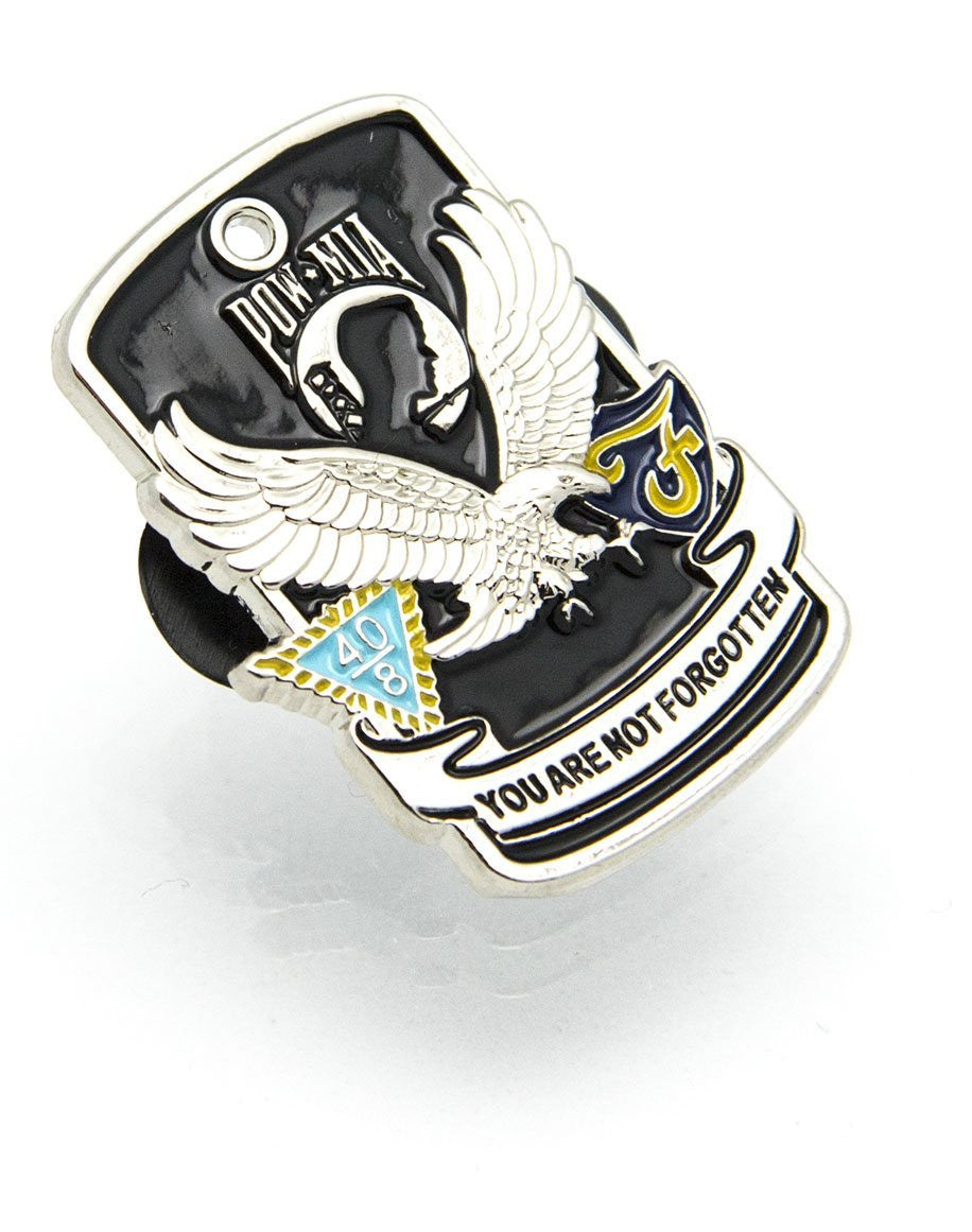 POW MIA Emblem Mint, Patriotic Gifts, USA Made POW MIA Lapel Pin and Hat Pin - Stocking Stuffers Christmas Gifts - American Eagle Lapel Pins - Military Veterans, Army, Navy, Air Force, Marines
