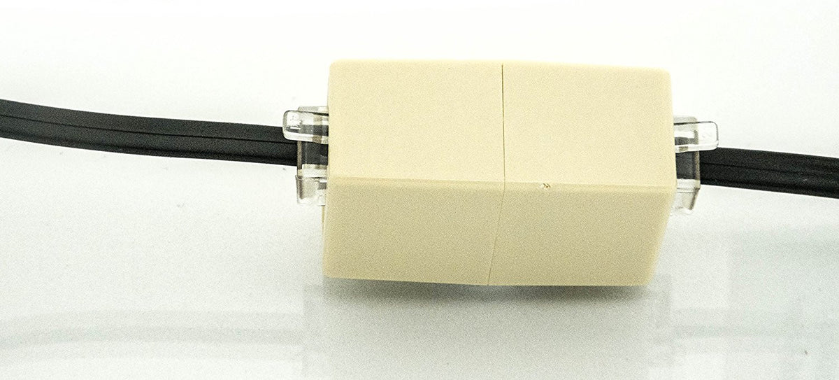 Phone Line Coupler - Modular In-Line Coupler - Phone Coupler - Classic White - Phone Jack Barrel Coupler- Telephone Line Coupler - Durable With secure Fit- No Static - iSoHo Phone Accessories