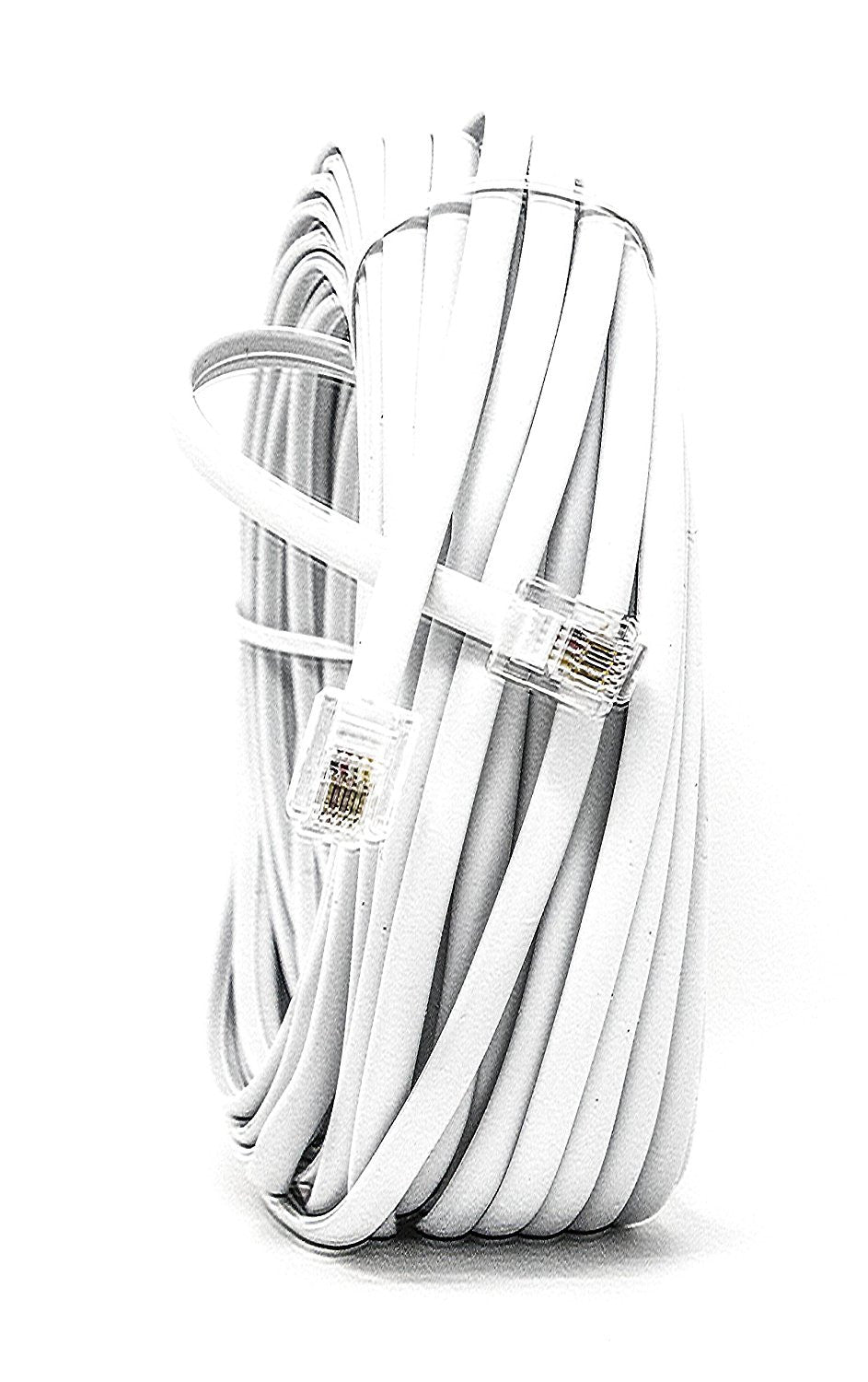 White 50 FT. Phone Telephone Extension Cord Cable Line Wire - - iSoHo Phone Accessories