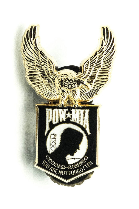 POW MIA US Flags Lapel Hat Pin Authentic Harley Eagle Military Lapel Pin Gifts - USA Veteran - Flags Lapel Hat Pin Genuine American Eagle Lapel Pins Made To Jewelry-Like Finish - Long-Lasting Durability Made In USA For Military-POW MIA - Christmas Gift