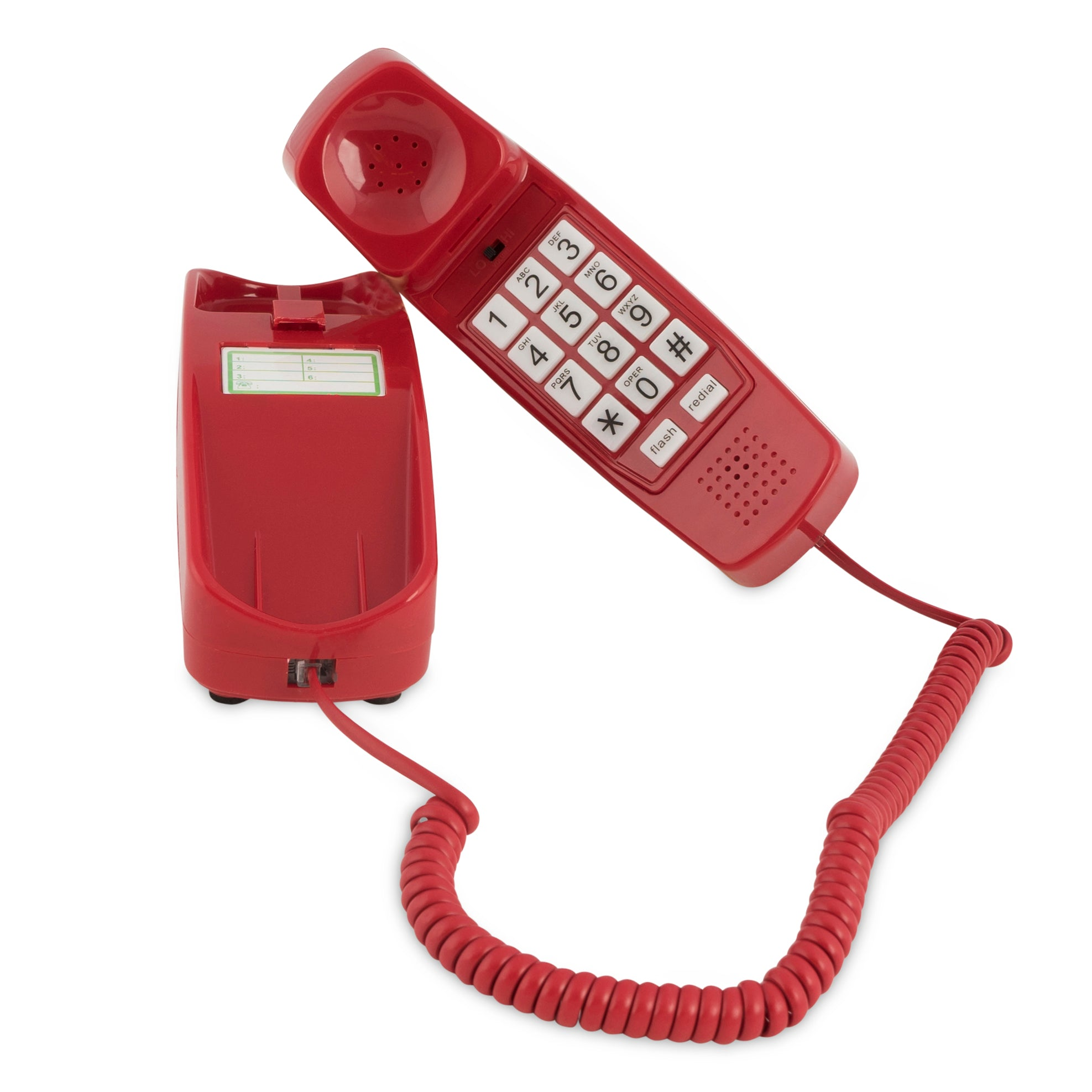 Trimline Corded Phone - Crimson Red