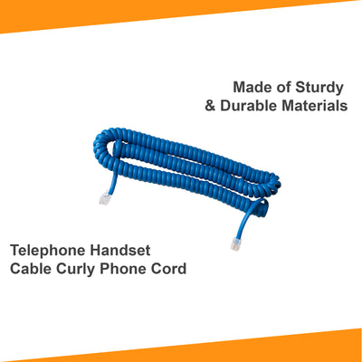 25 ft Telephone Cord - Classic Blue