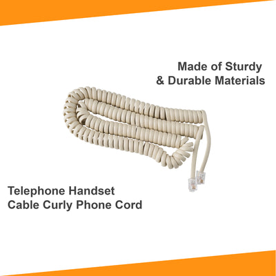 15 ft Telephone Cord for Landline Phone - Bone Ivory
