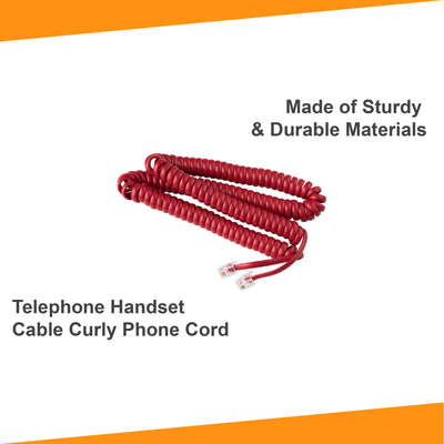 25 ft Telephone Cord - Crimson Red