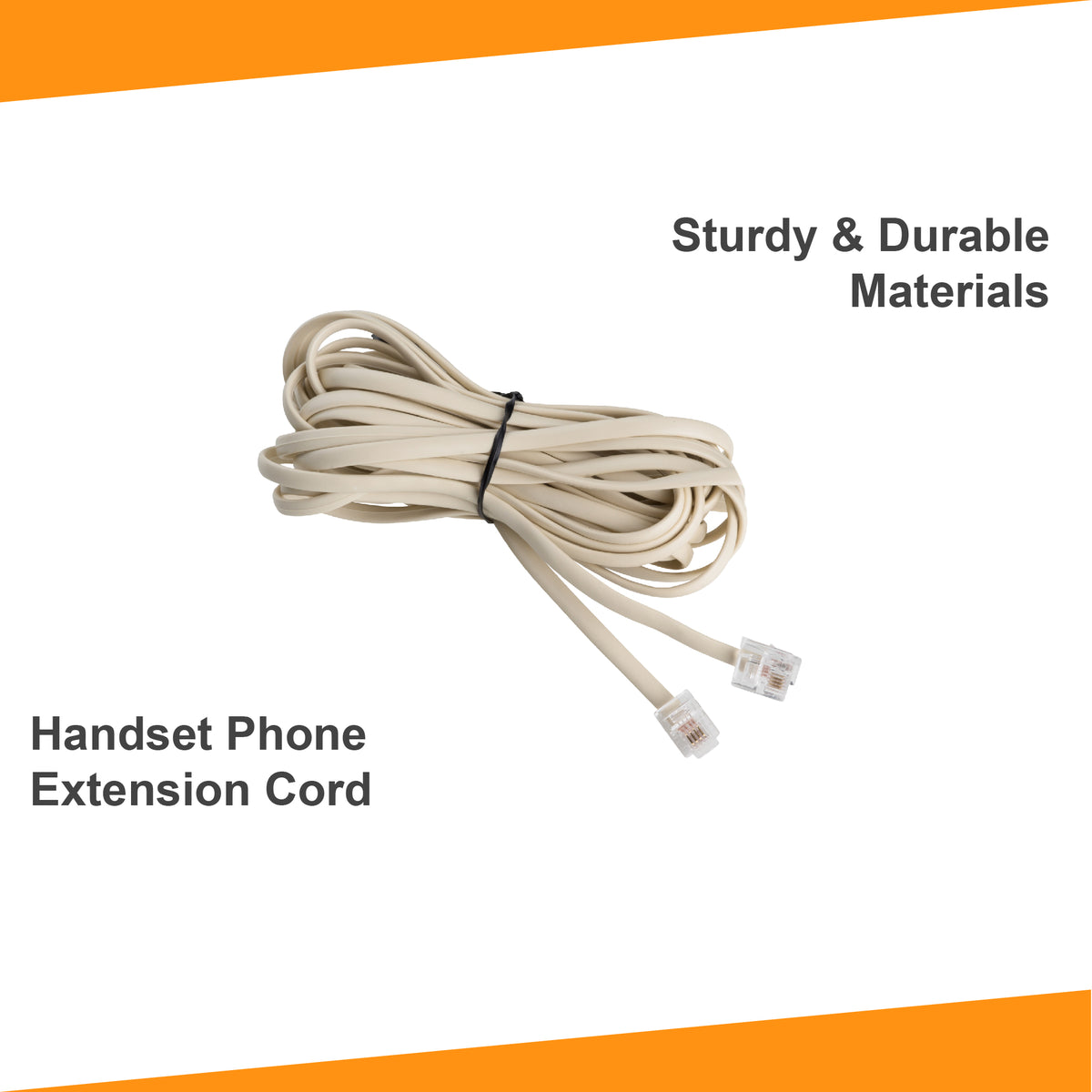 25 ft Phone Line Extension Cord - Bone Ivory
