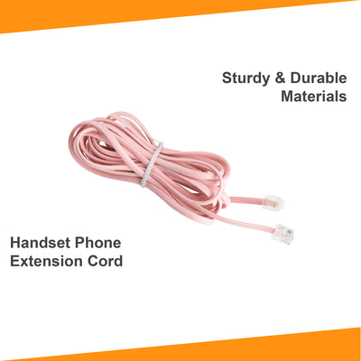 15 ft Phone Line Extension Cord - Pink