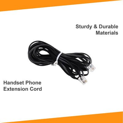 15 ft Phone Line Extension Cord - Black
