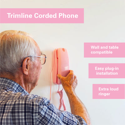 Corded Phone - Pink