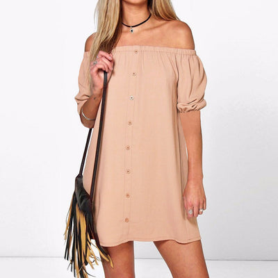 Mira Off Shoulder Dress Half Sleeve (Multiple Colors)