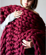 Chunky Knitted Blanket (Multiple Colors)