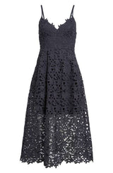 Samantha Black Lace Dress