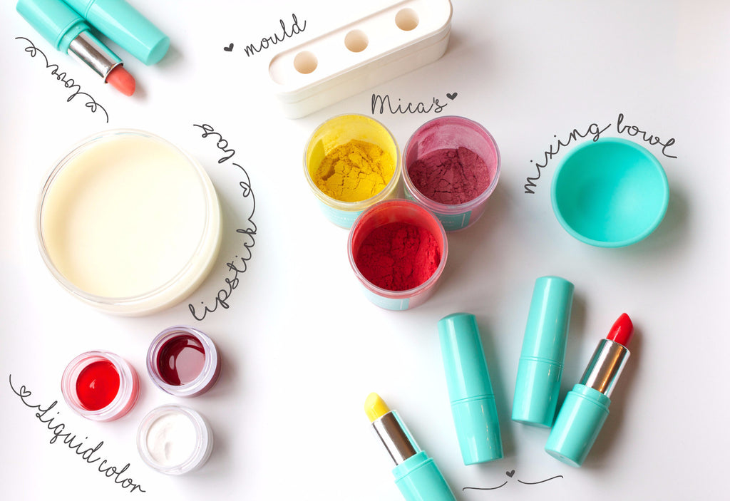 Make 10 lipsticks - Lipstick Making Kit (free shipping)