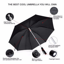 LED Umbrella with Handle Flashlight