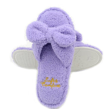 Terry Indoor Slippers with Bow
