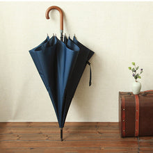 Parachase Large Windproof Wooden Handle Umbrella