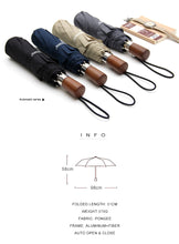 Automatic Umbrella with Wooden Handle