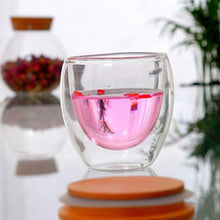 Clear Glass Double Layer Wall Tea Cup 250ml / 350ml / 450ml