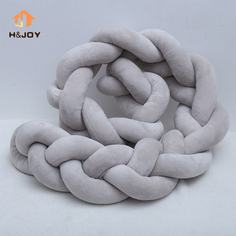 Plush Knotted Braid Pillow