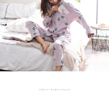 Cute Cactus Printed Cotton Pajama Set