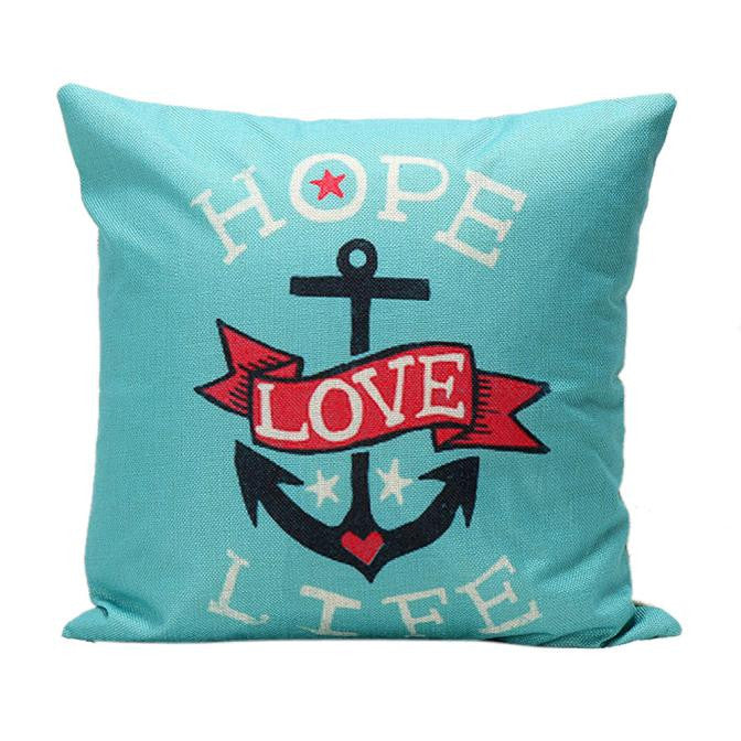 Vintage Printed Pillow Case Cushion Cover