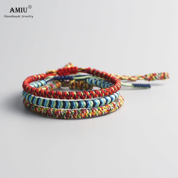 AMIU 3PCS Color Tibetan Buddhist Bracelet