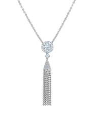 - Diamond Tassel Necklace -