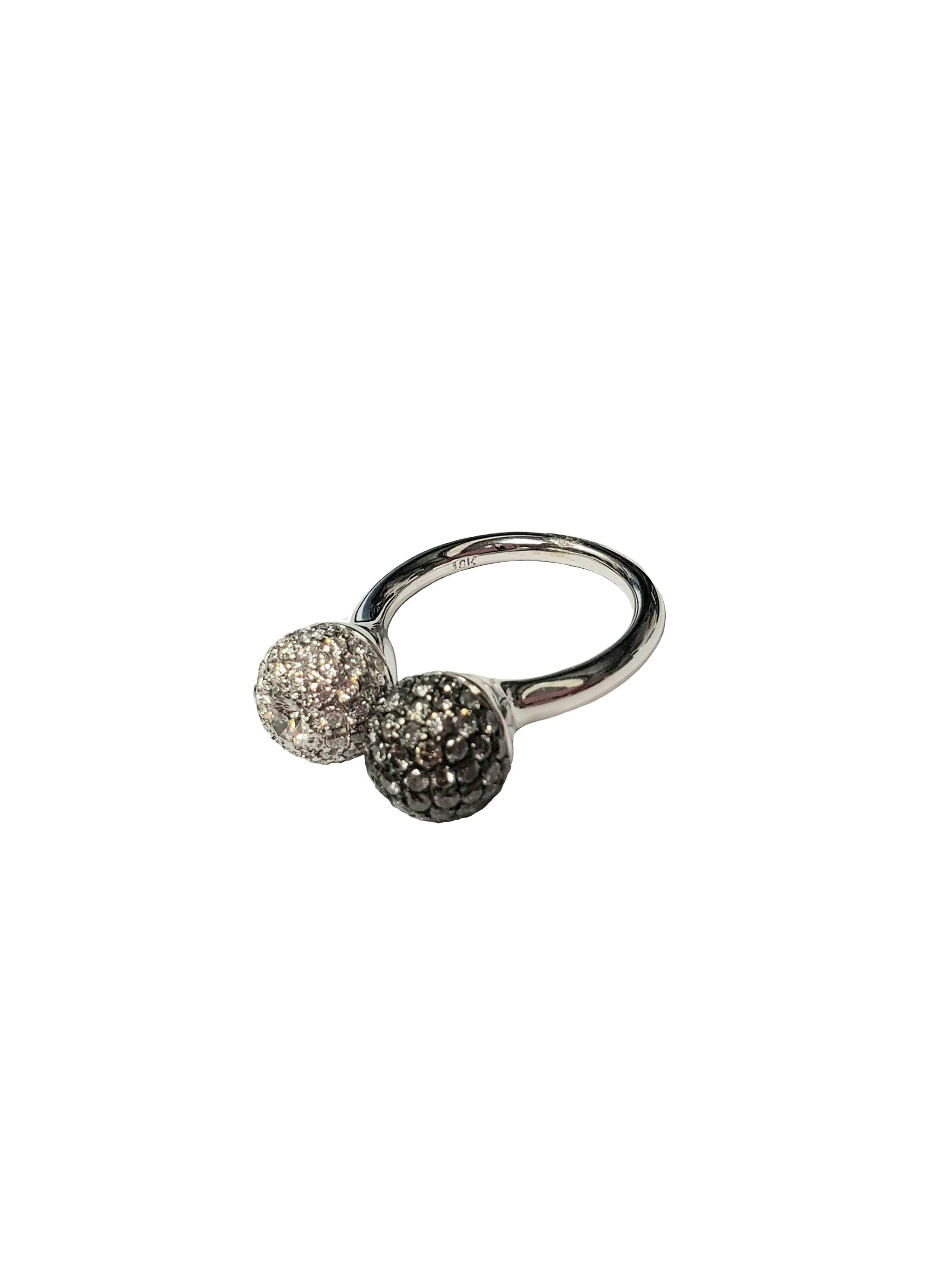 - Pave Double Ball Ring -