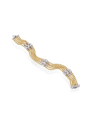 Flapper Five-Row Diamond Bracelet