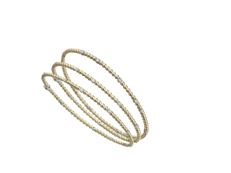- Flapper Round Bangle with Diamonds -