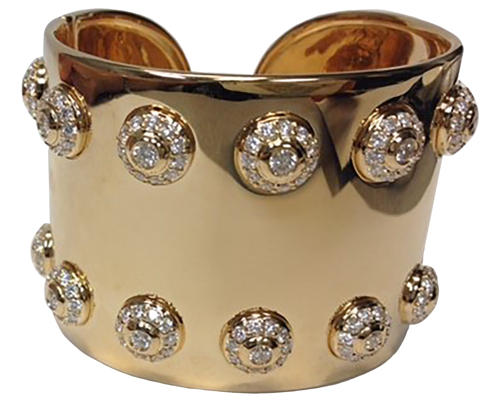 - Wide Diamond Cuff -