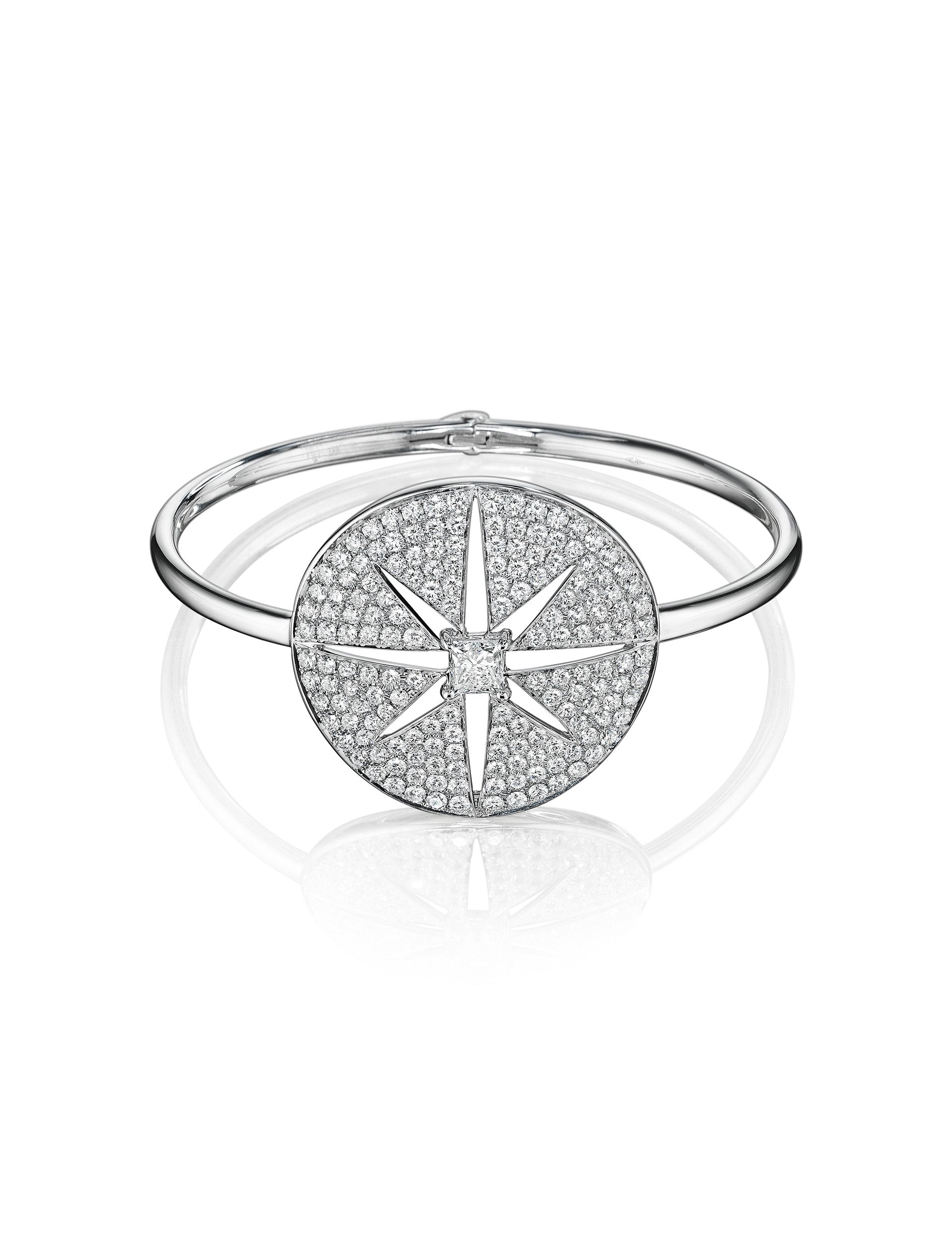 - Starburst Medallion Bangle -