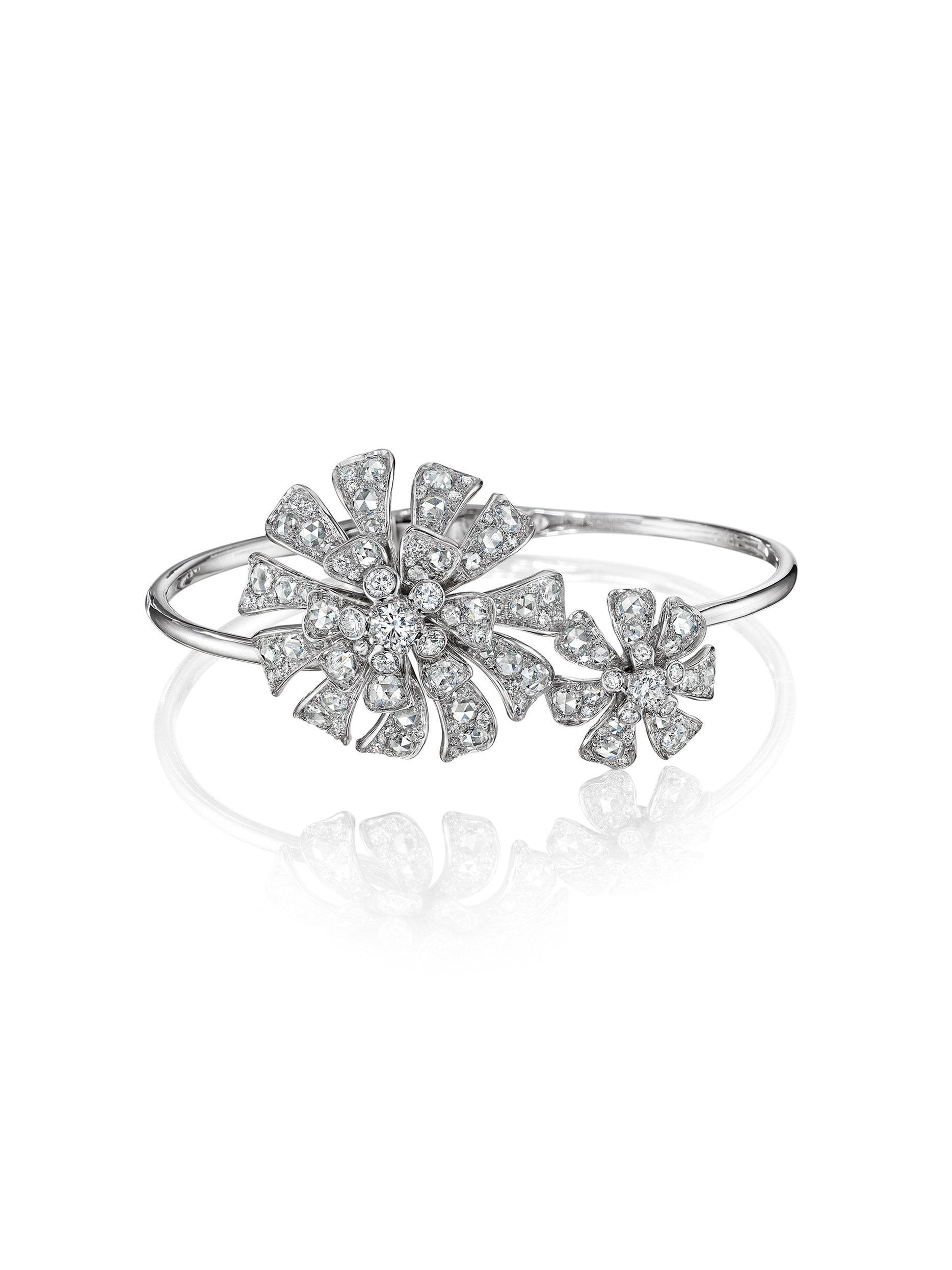 - Double Blossom Aster Bangle -