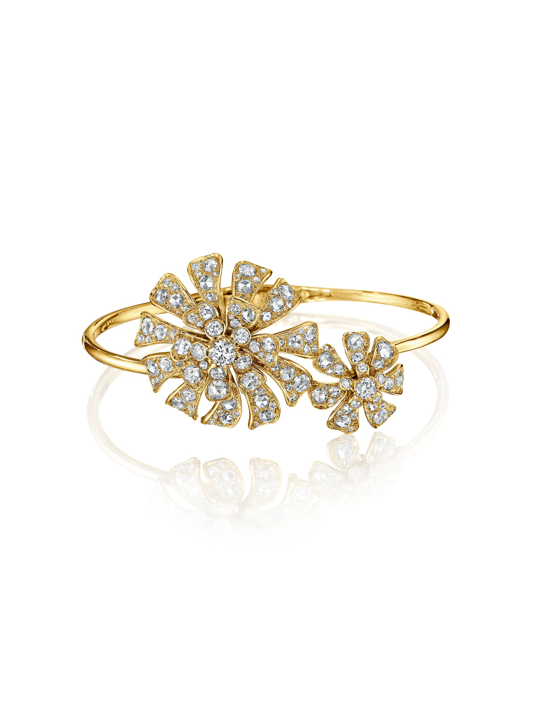 Double Blossom Aster Bangle