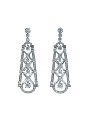 Deco Diamond Mosaic Earrings