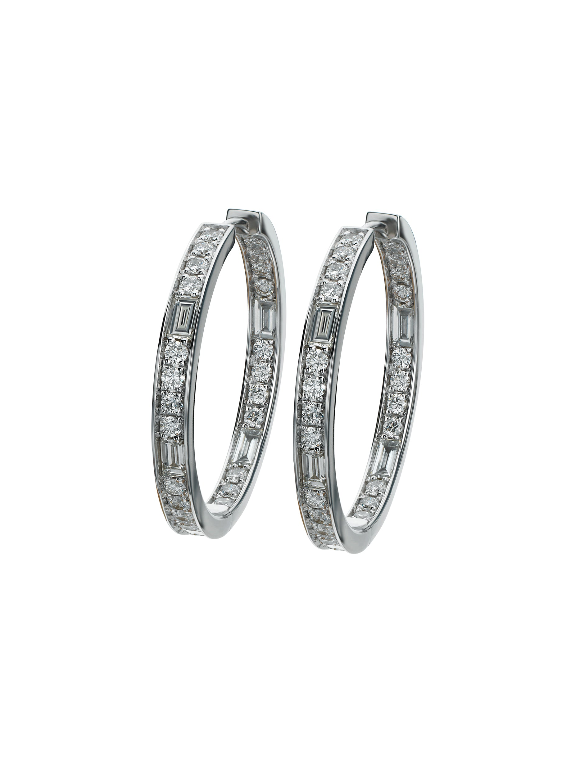 Dot-Dash Hoop Earrings 1.25""