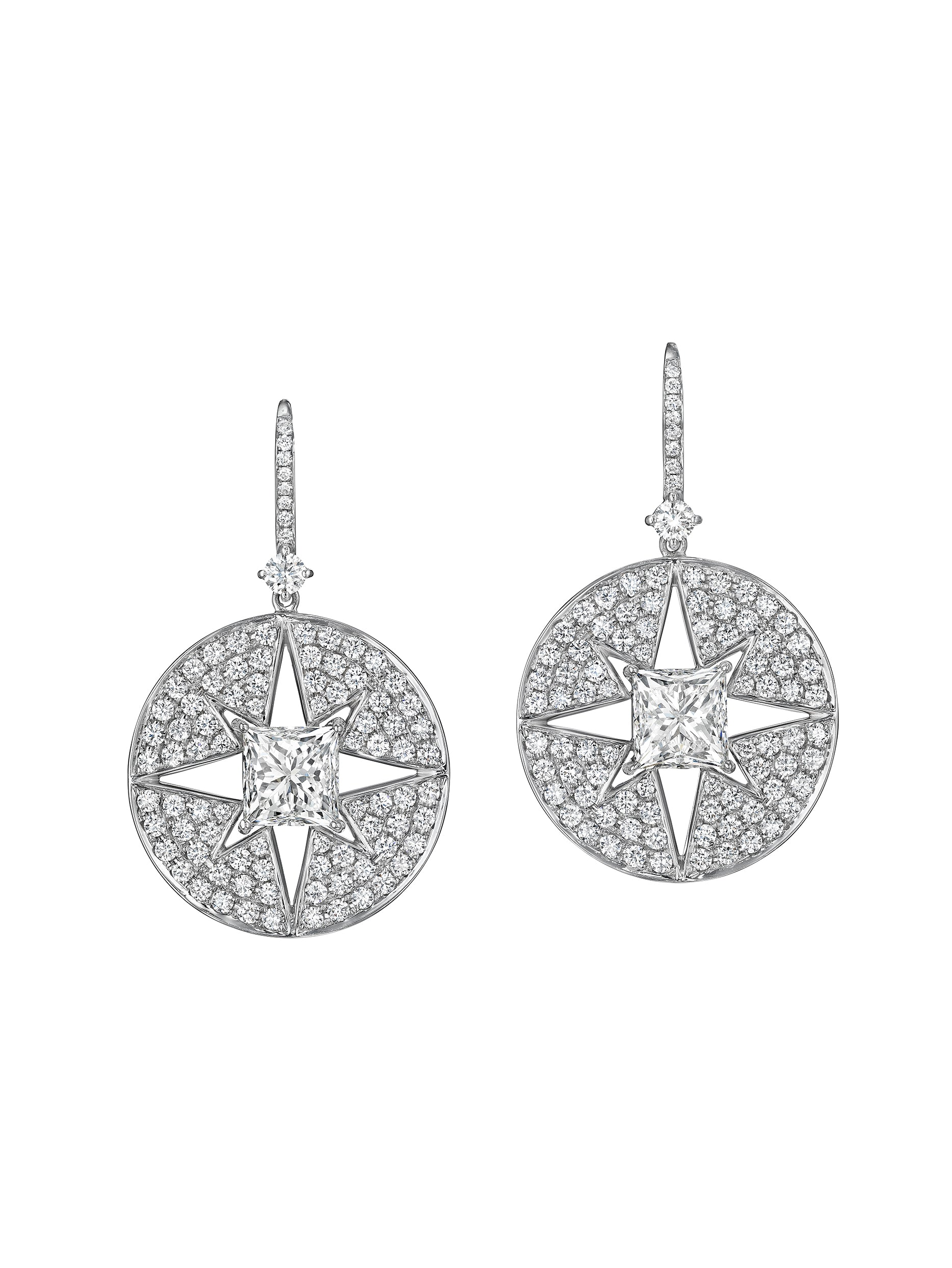 Starburst Medallion Drop Earrings