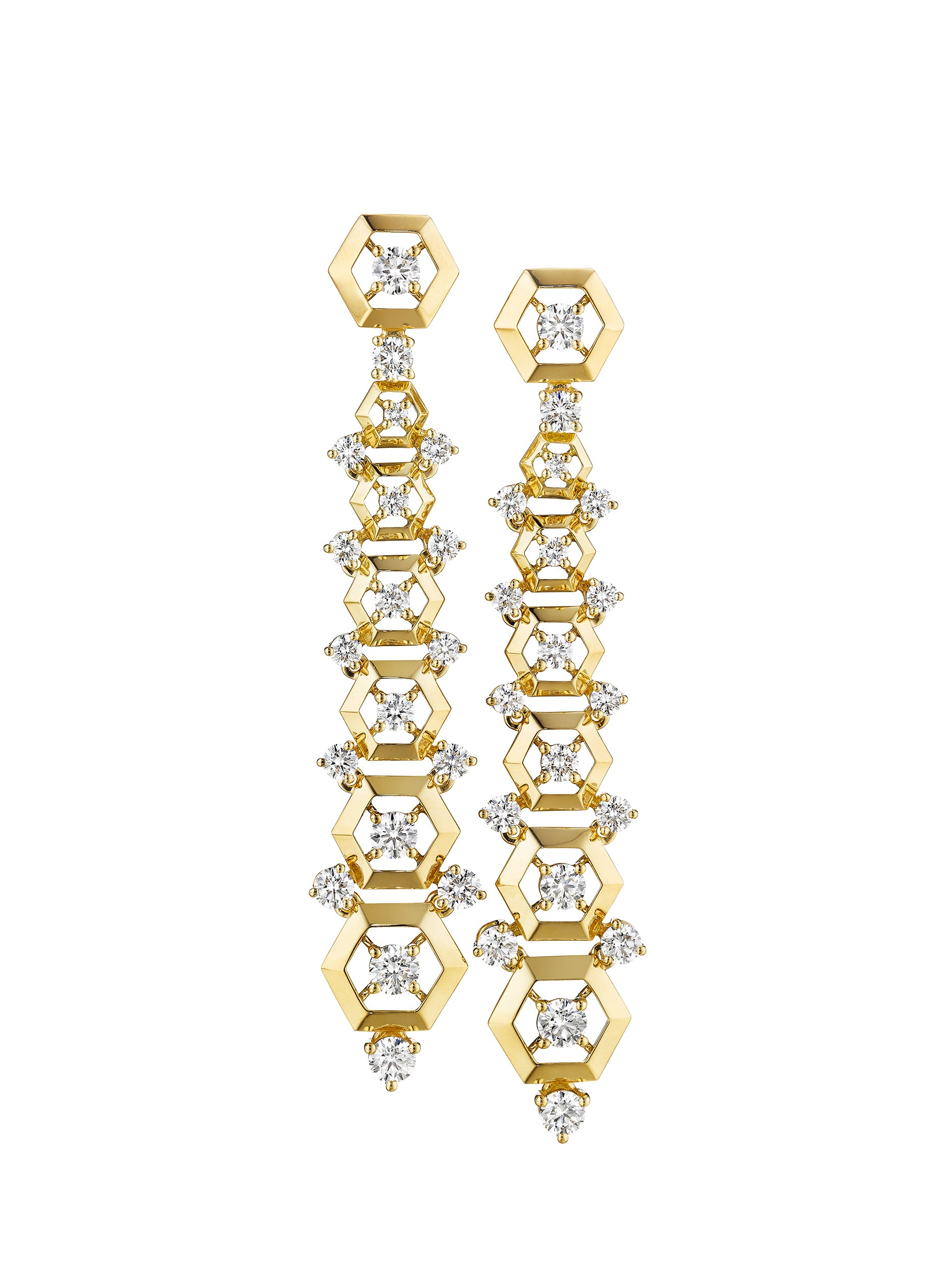 - Hexagon Stiletto Earrings -