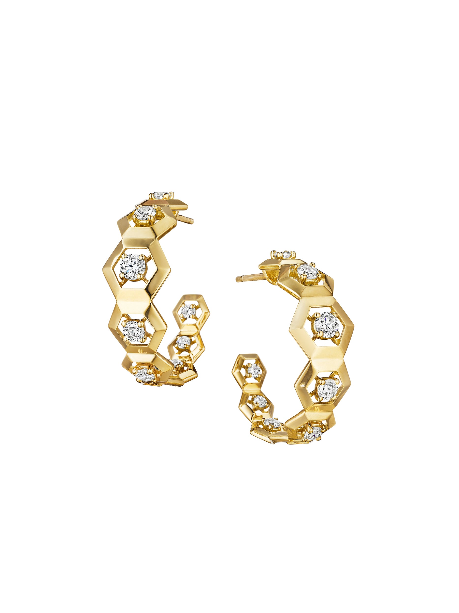 signature hexagon keynes pin earring diamond drop gold earrings and rose