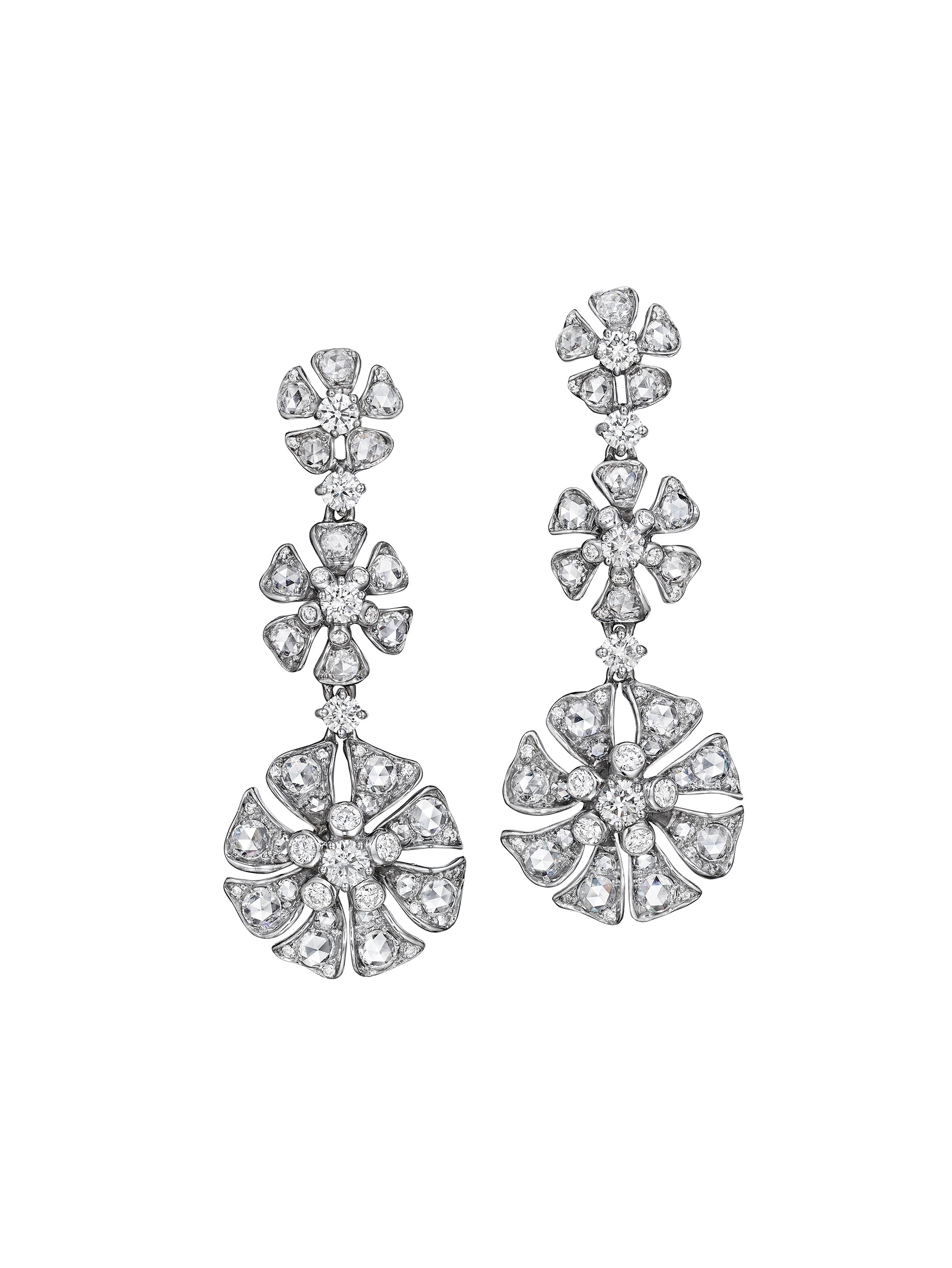 Aster Triple Drop Blossom Earrings