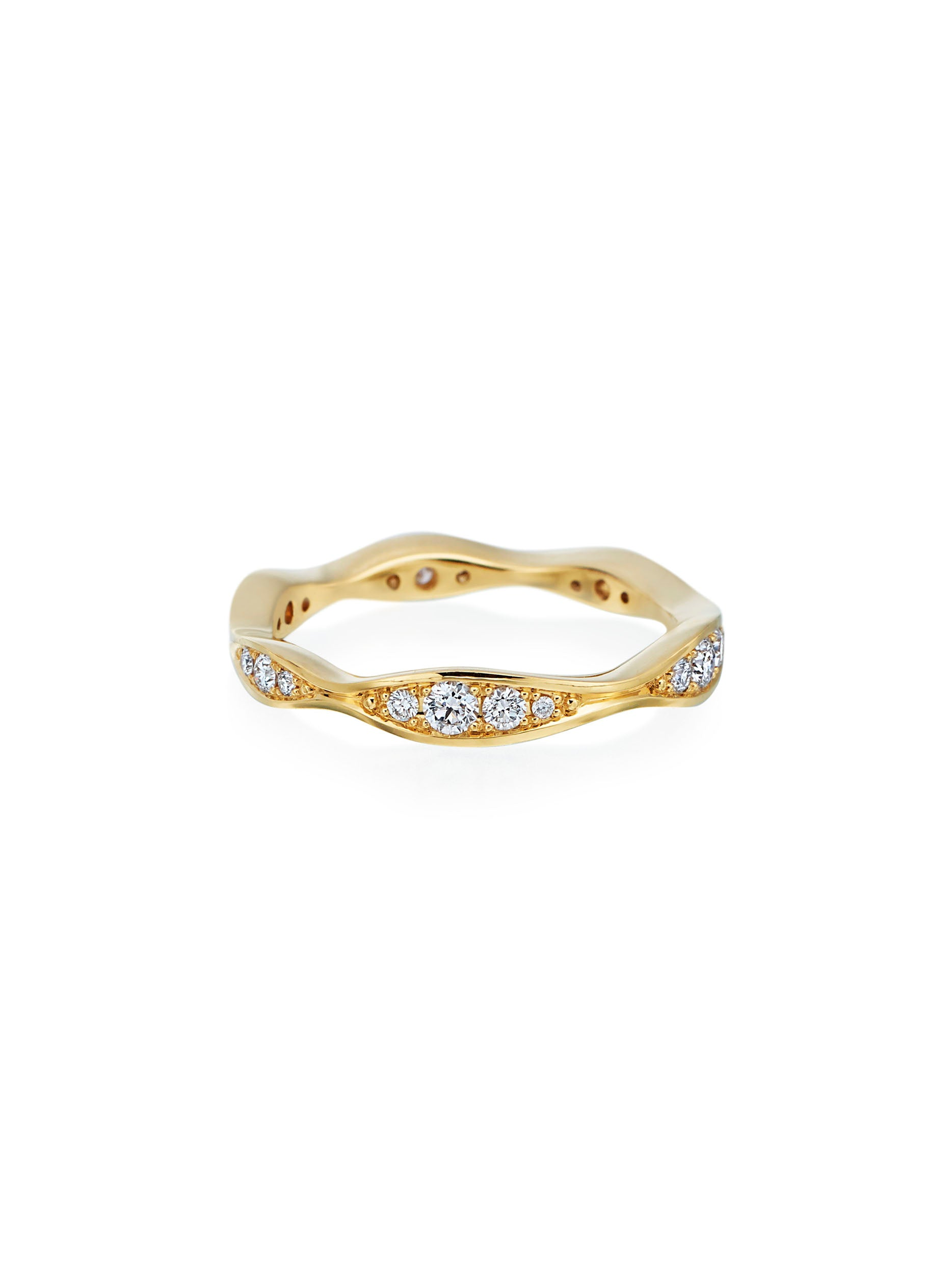 Wave Eternity Diamond Band