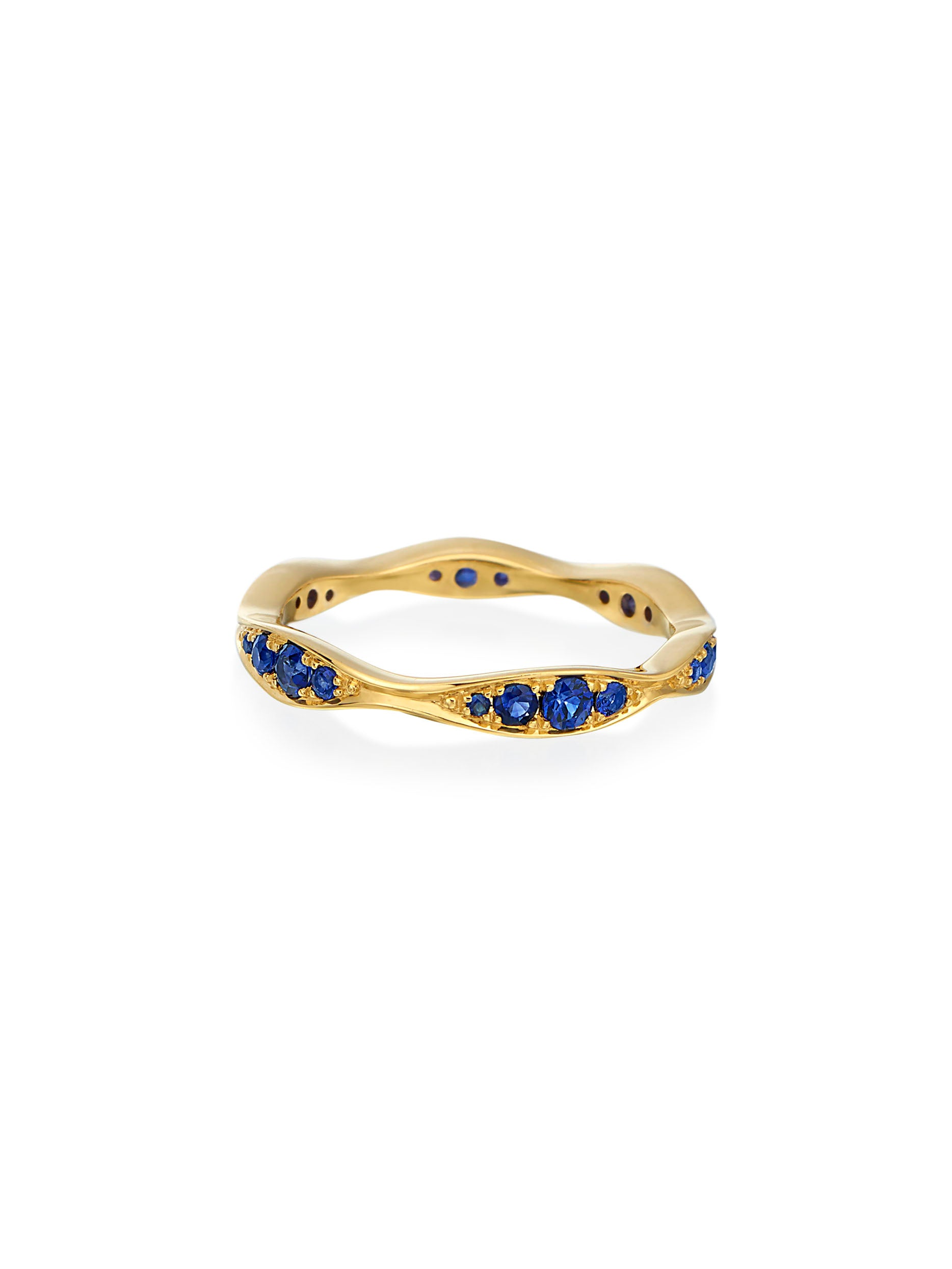 Wave Eternity Sapphire Band
