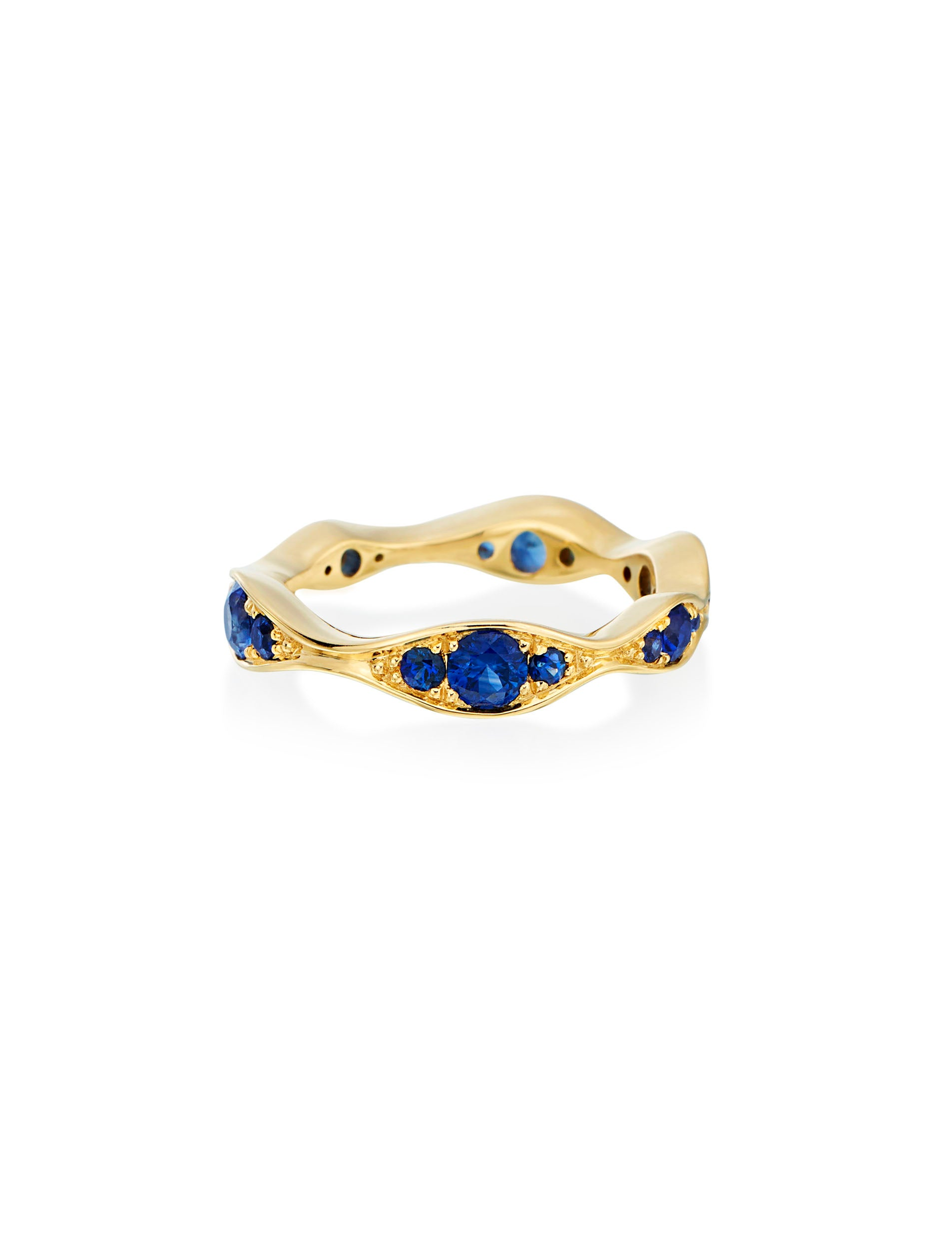 Wave Wide Eternity Sapphire Band