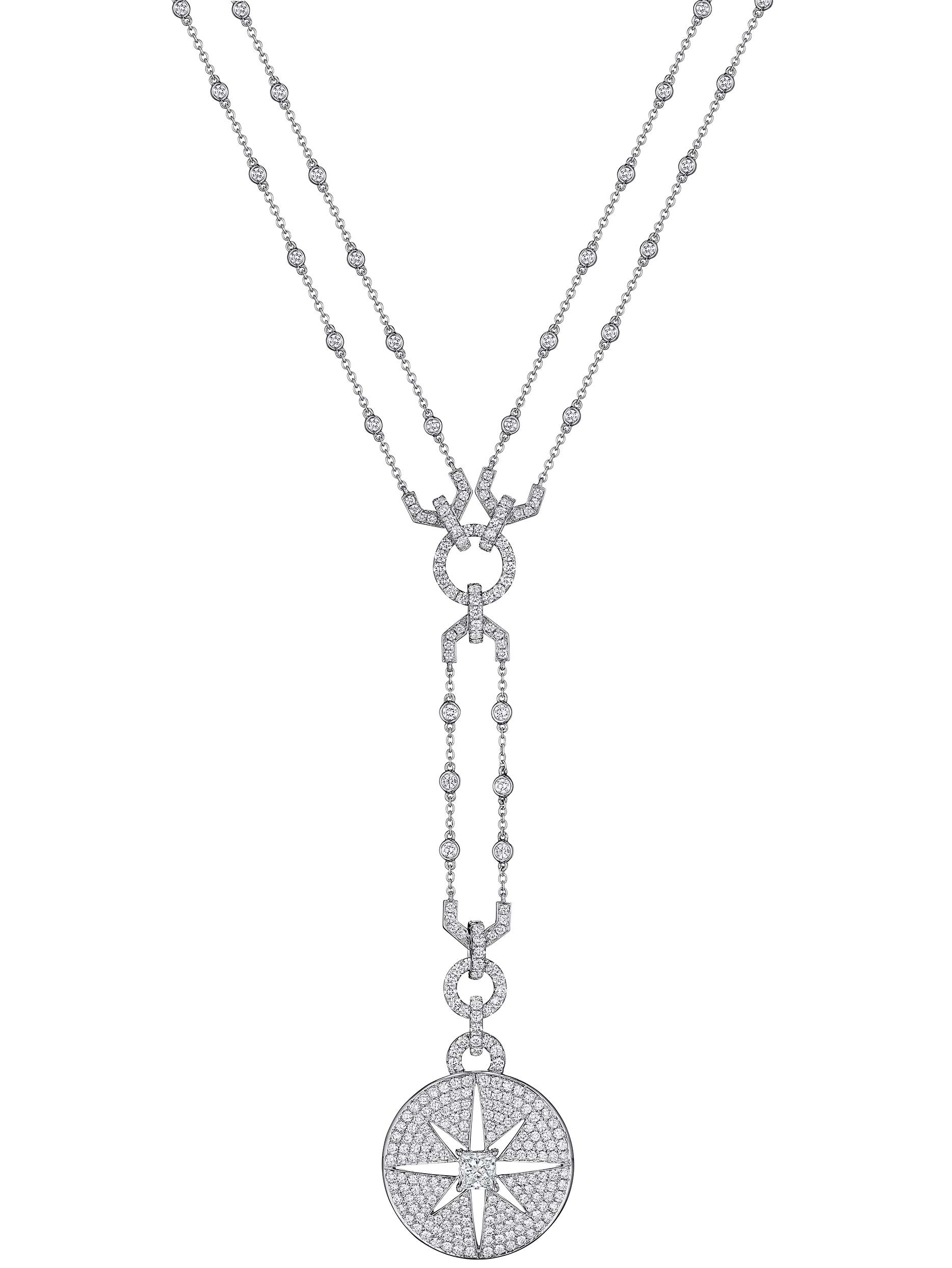 Petite Starburst Diamond Drop Necklace