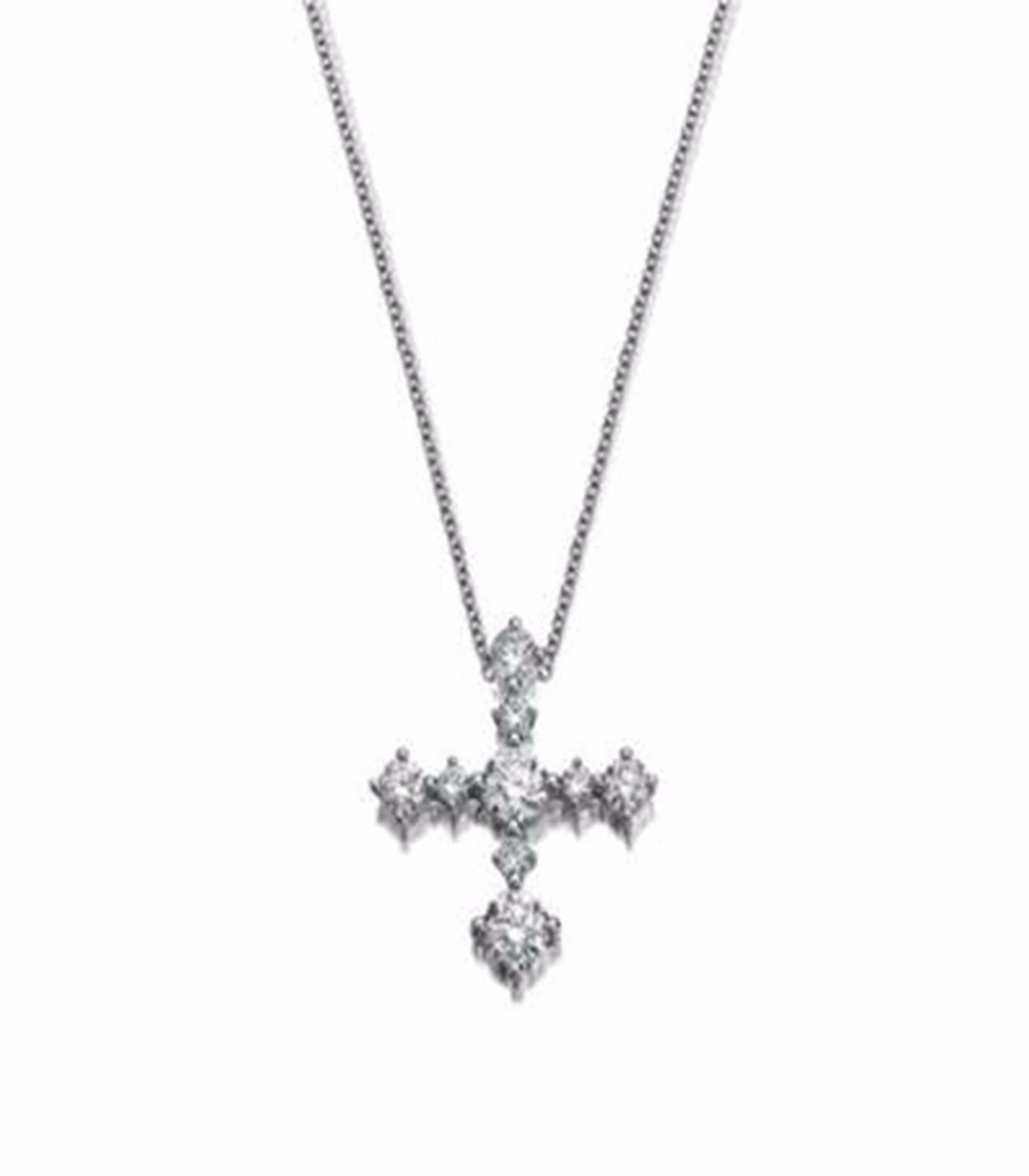 Essential Diamond Cross pendant