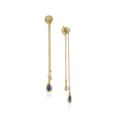 Diamond and Sapphire Drop Earring