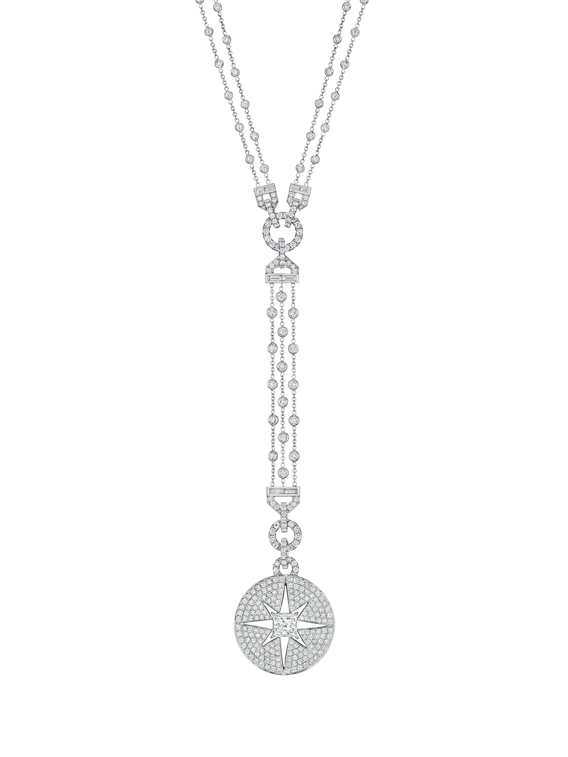 Starburst Statement Diamond Drop Necklace