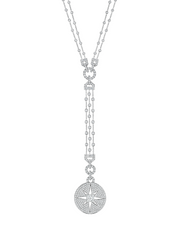 - Starburst Statement Diamond Drop Necklace -
