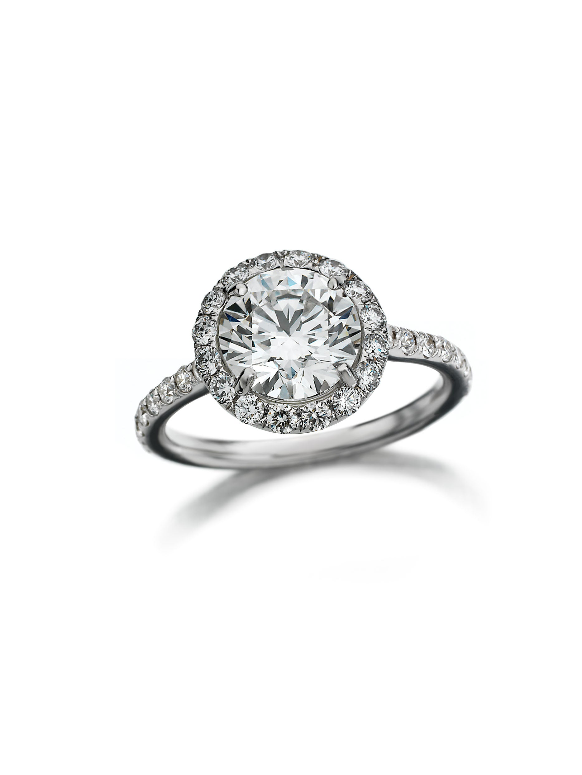 Classic Maria Canale Halo Engagement Ring