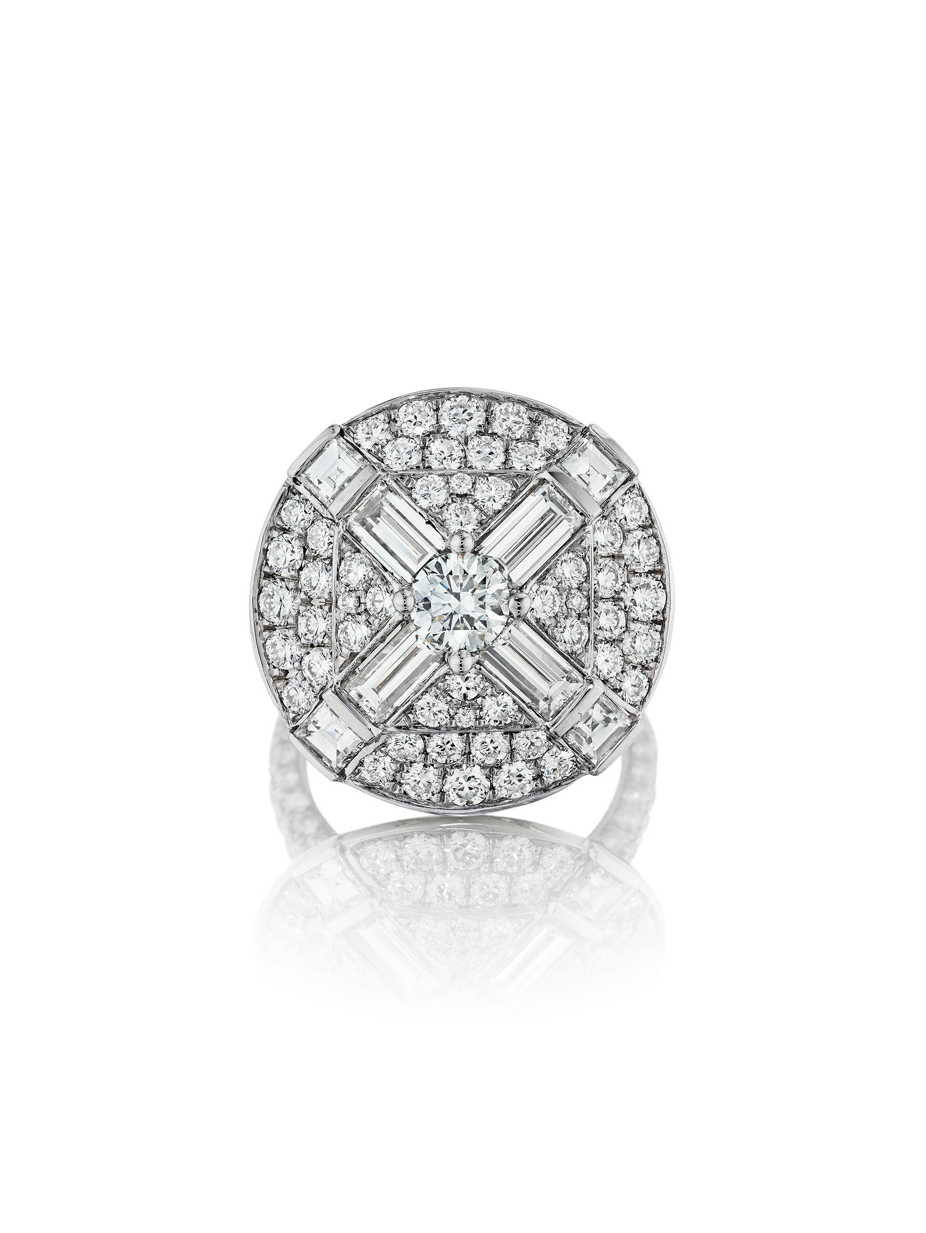 Maria Canale Deco Medallion Diamond Ring