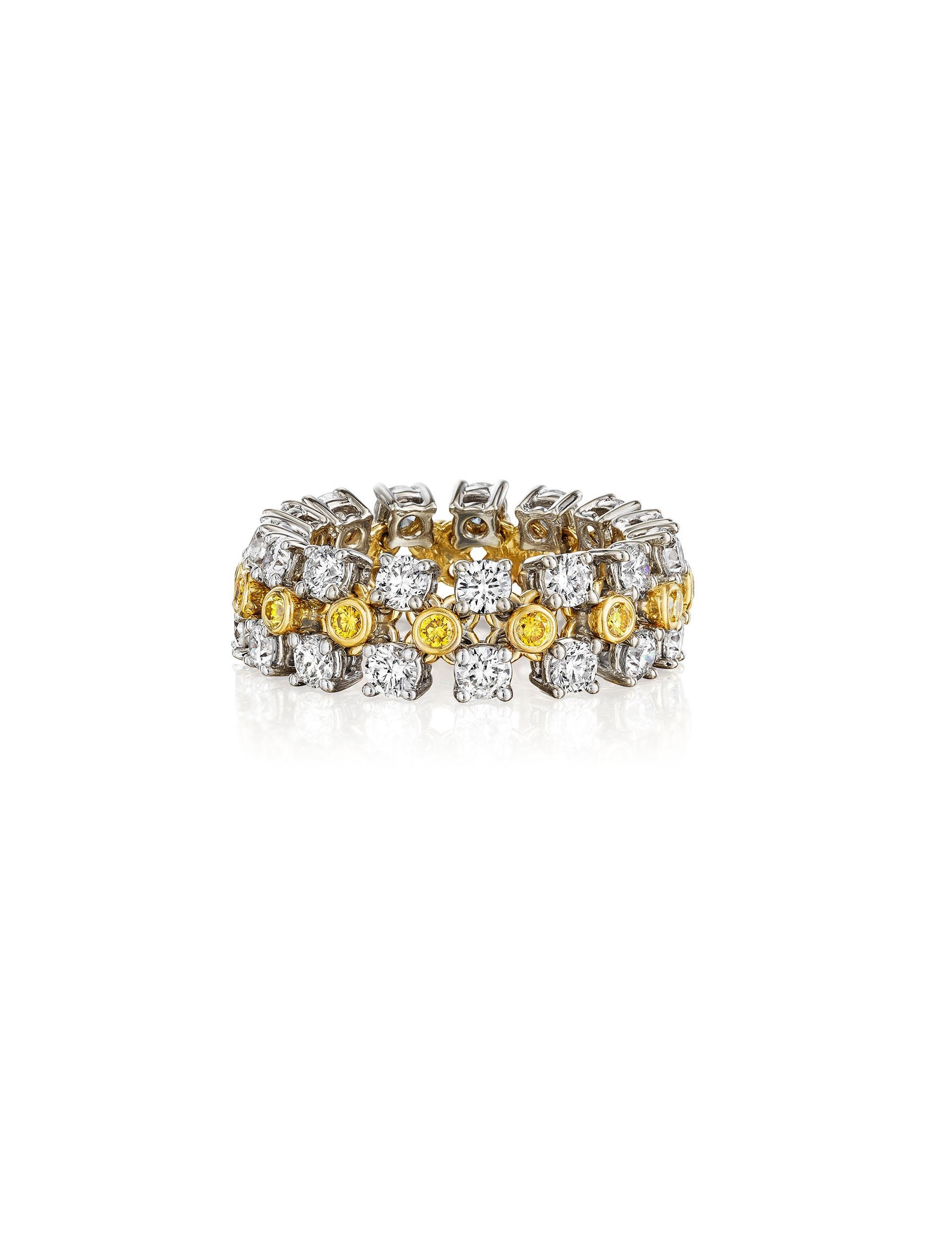 Jubilee Flexible Triple-Row Ring